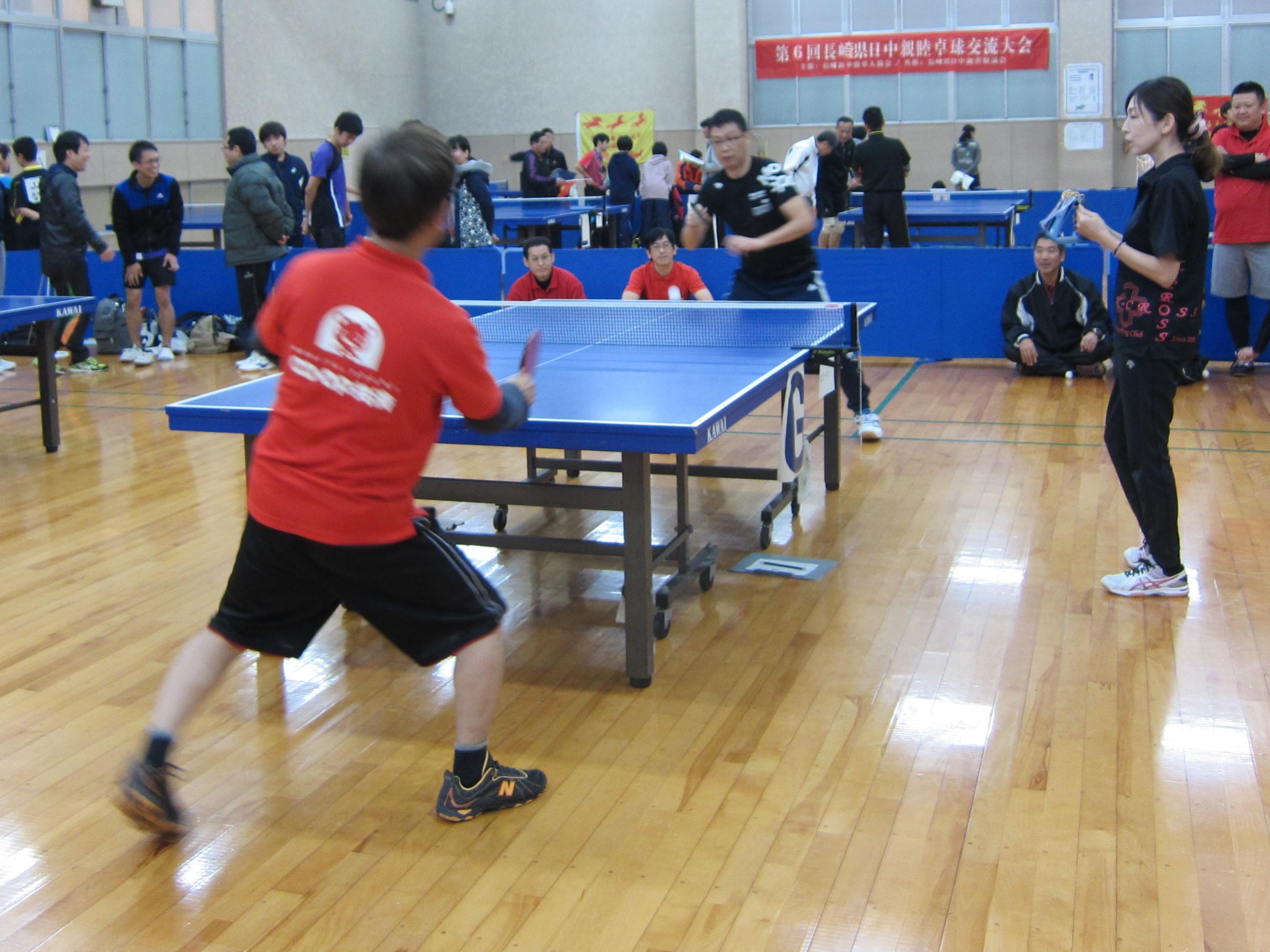 卓球交流大会の様子